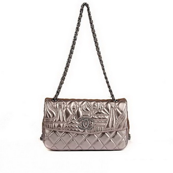 Best Chanel Flap Shoulder Bag A47049 Silver On Sale
