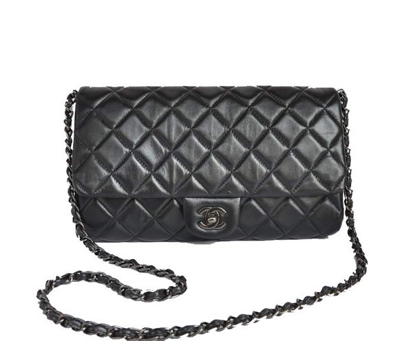 Best Chanel A58036 Lambskin Leather Flap Bag Black On Sale