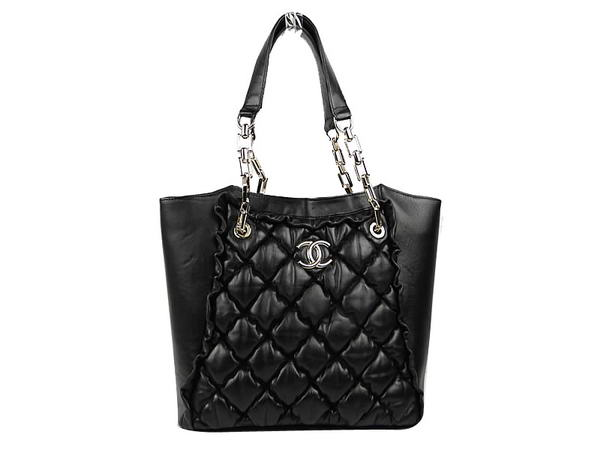 Best Chanel Bubble Bag Lambskin Leather A35375 Black On Sale