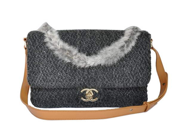 Best Chanel Fall Winter 2012 Flap Bag A65098 Grey On Sale