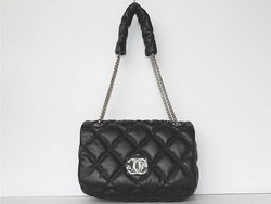 Best Chanel Fashion Shoulder Bags Lambskin Leather 46163 Black On Sale