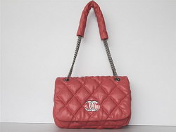 Best Chanel Fashion Shoulder Bags Lambskin Leather 46163 Pink On Sale