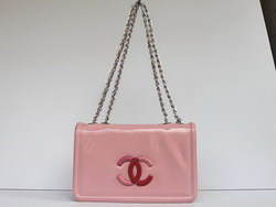 Best Chanel Fashion Shoulder Bags Pink Patent Leather 47965 On Sale
