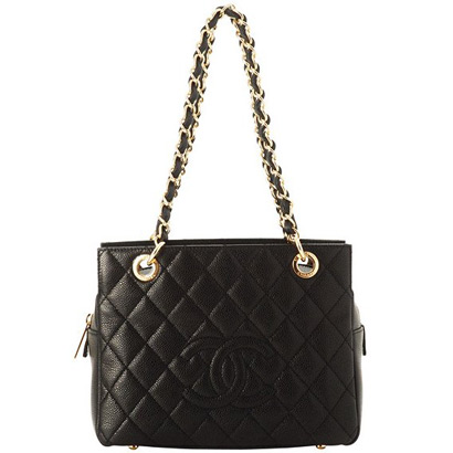 Best Chanel Caviar Skin Shoulder Bags 58004 Noir On Sale