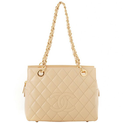 Best Chanel Caviar Skin Shoulder Bags 58004 Beige On Sale