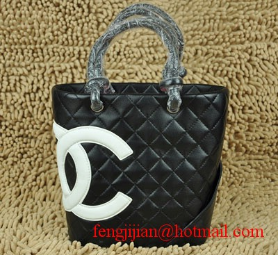 Replica Chanel Ligne Cambon Tote Bags CC 9004 Black On Sale