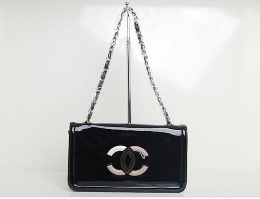 Replica Chanel Cruise Lipstick Patent Tote bag A47920 Black On Sale