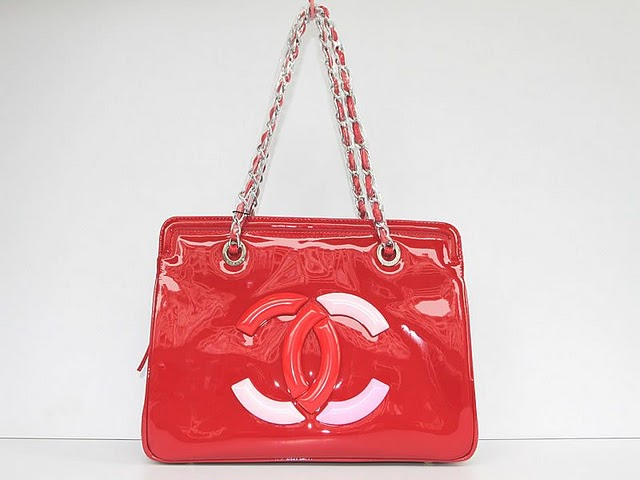 Replica Chanel Cruise Lipstick Patent Tote bag A47926 red On Sale