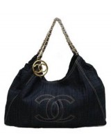 Replica Chanel Denim Shopper handbag with Gold hardware 35462 On Sale