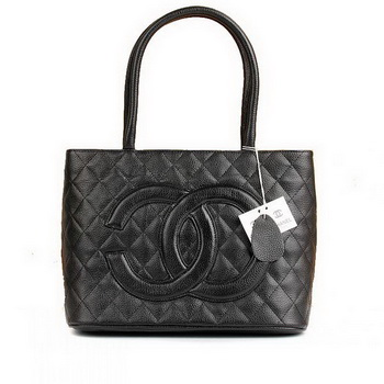 Replica Chanel Lambskin Leather Tote Bag 1804 Black On Sale