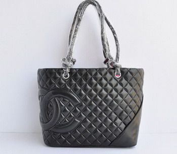 Replica Chanel Cambon Ligne Large Tote Bag 25169 Black On Sale