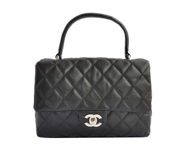 Replica Chanel A35973 Cannage Leather Tote Bag Black On Sale