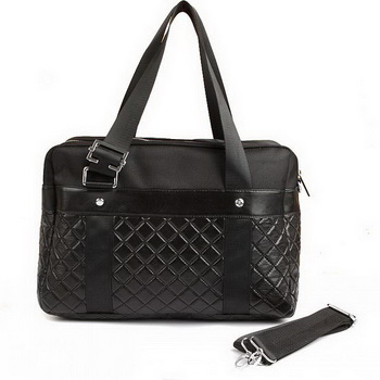 Replica Chanel Paris Biarritz Large Tote Black Lambskin A62526 On Sale