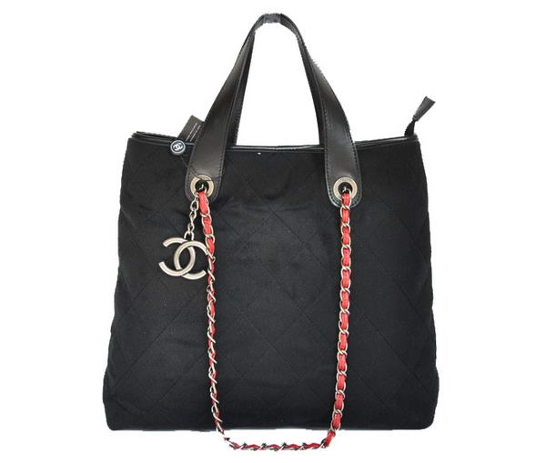 Replica Chanel A66709 Fabric Tote Bag Black On Sale