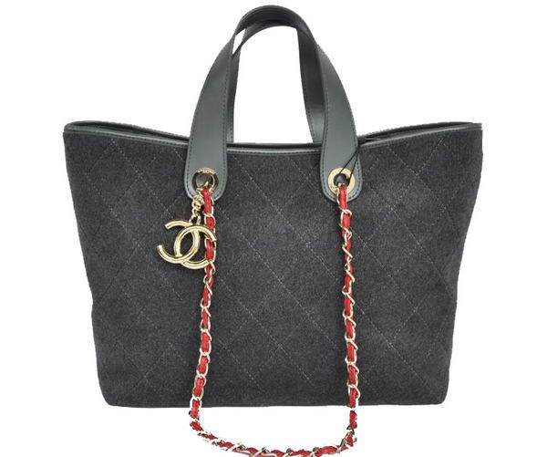 Replica Chanel A66710 Cotton Large Tote Bag Grey On Sale
