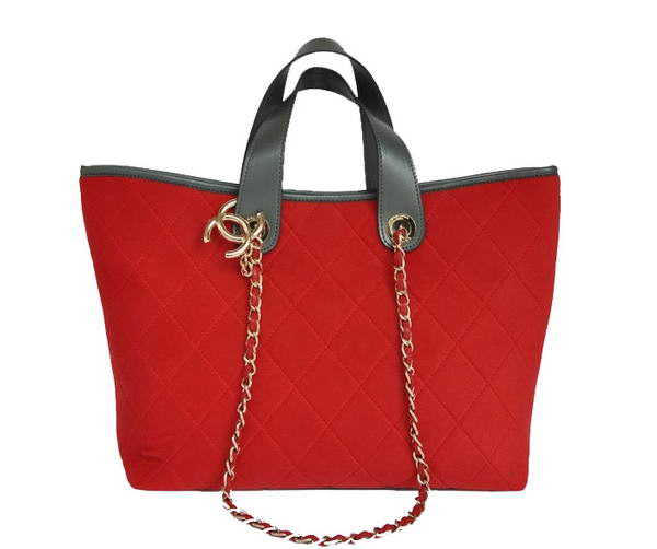 Replica Chanel A66710 Cotton Large Tote Bag Red On Sale