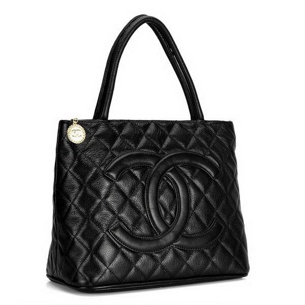Replica Chanel Cambon Lambskin Leather Tote Bag 1804 Black On Sale