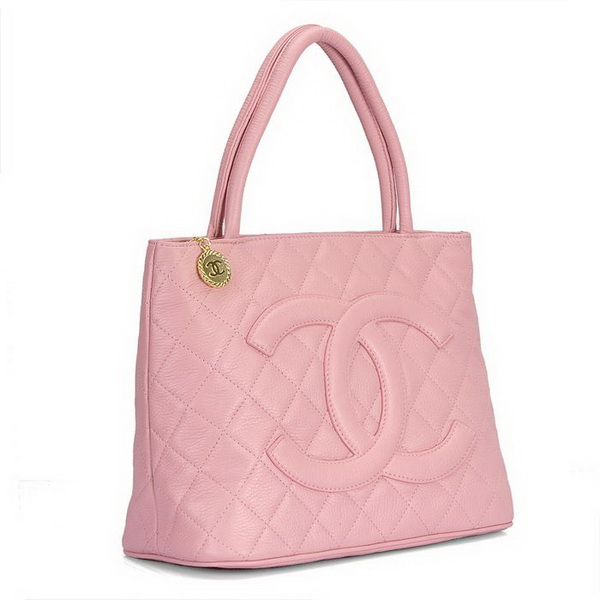 Replica Chanel Cambon Lambskin Leather Tote Bag 1804 Pink On Sale