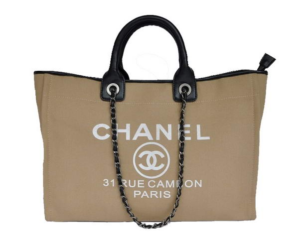 Replica Chanel Large Canvas Tote Shopping Bag A66942 Y07492 C2176 On Sale