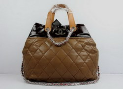 Replica Chanel Large Tote Bag Coffee Lambskin Leather 50133 On Sale