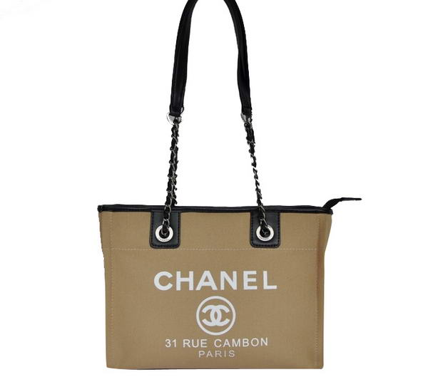 Replica Chanel Small Canvas Tote Shopping Bag A66939 Apricot On Sale