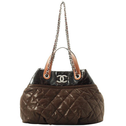 Replica Chanel Quilted Large Tote Bags A49683 Dark Brown On Sale