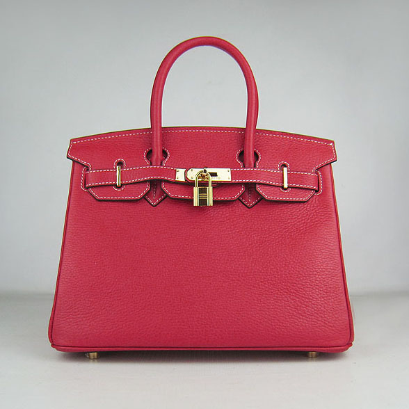 Replica Hermes Birkin 30CM Togo Leather Bag Red 6088 On Sale
