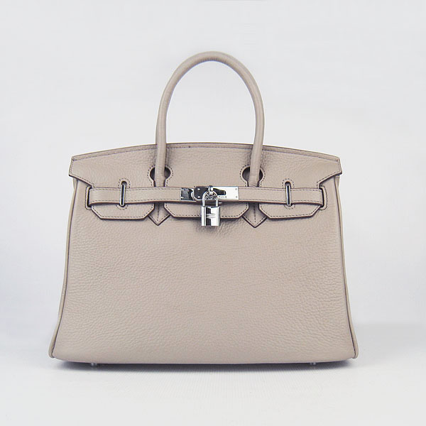 Replica Hermes Birkin 30CM Togo Leather Bag Grey 6088 On Sale