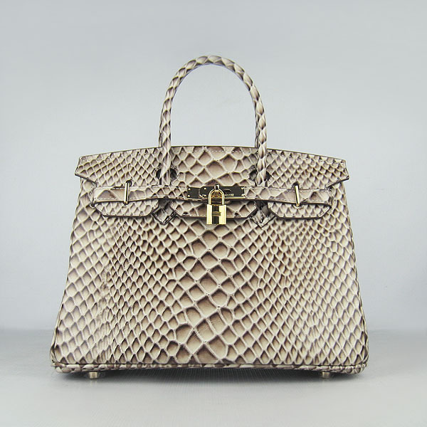 Replica Hermes Birkin 35CM Fish Veins Leather Bag Grey 6088 On Sale