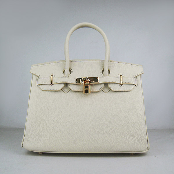 Replica Hermes Birkin 30CM Togo Leather Bag Cream 6088 On Sale