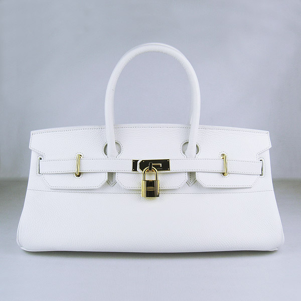 Cheap Hermes Birkin 42cm Replica Togo Leather Bag White 6109