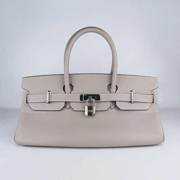 Cheap Hermes Birkin 42cm Replica Togo Leather Bag Grey 62642