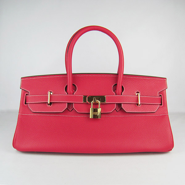 Cheap Hermes Birkin 42cm Replica Togo Leather Bag Red 6109