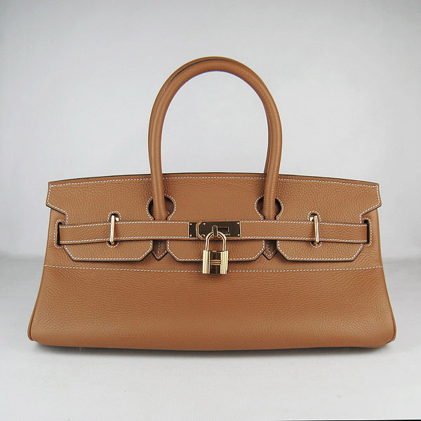 Cheap Hermes Birkin 42cm Replica Togo Leather Bag Light Coffee 62642