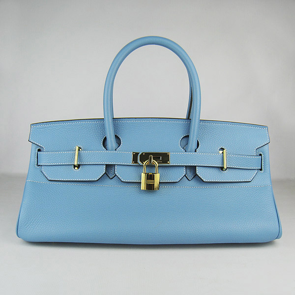 Cheap Hermes Birkin 42cm Replica Togo Leather Bag Light Blue 62642