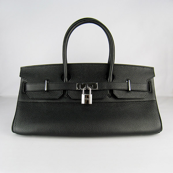 Cheap Hermes Birkin 42cm Replica Togo Leather Bag Black 6109