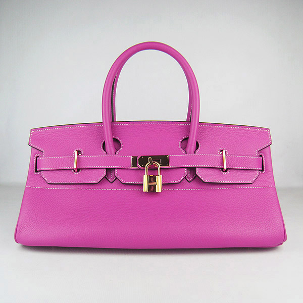 Cheap Hermes Birkin 42cm Replica Togo Leather Bag Peachblow 62642