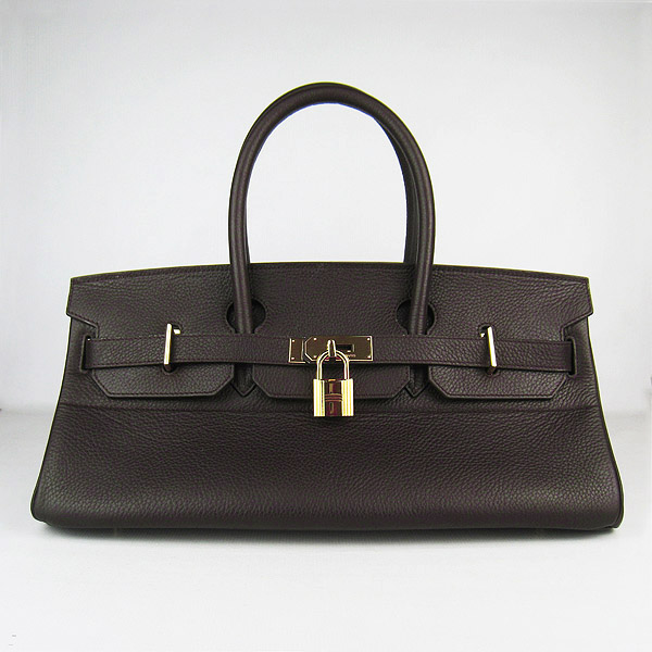 Cheap Hermes Birkin 42cm Replica Togo Leather Bag Dark Coffee 62642