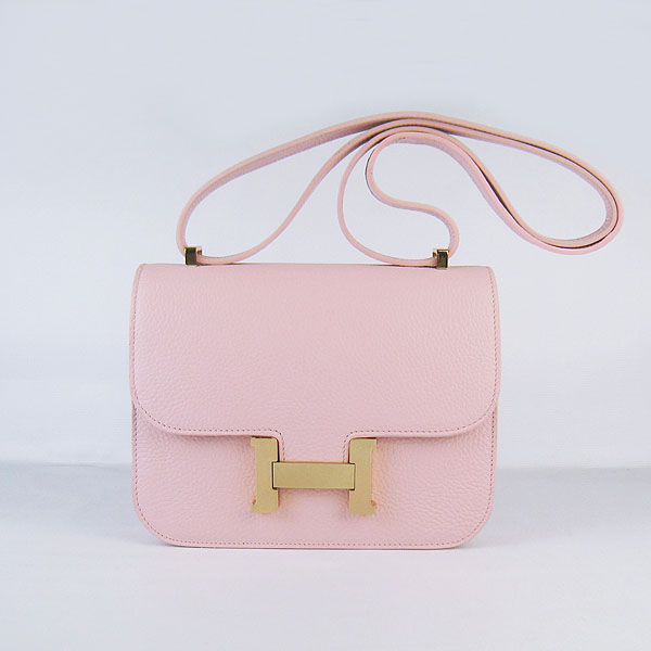 7A Hermes Oxhide Leather Message Bag Pink H017