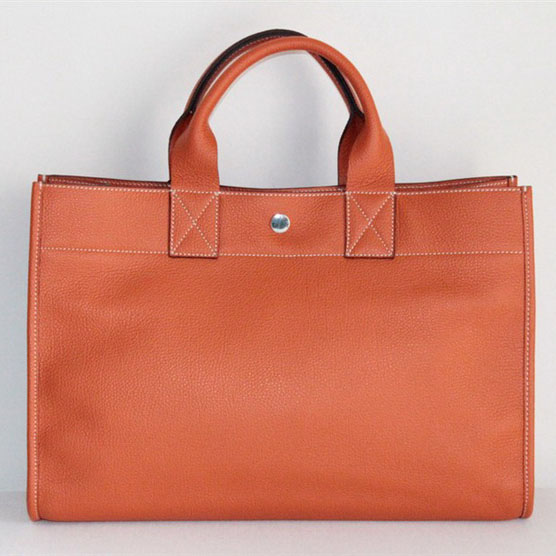 Replica Hermes Cowhide Cabag Weekender Bag Orange On Sale