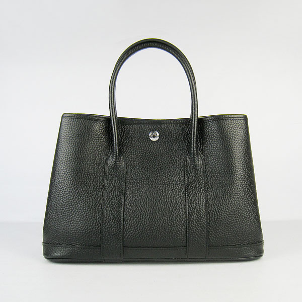 7A Hermes Garden Party Bag Black H2805 Replica