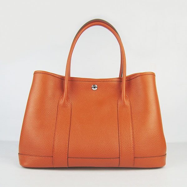 7A Hermes Garden Party Bag Orange H2805 Replica