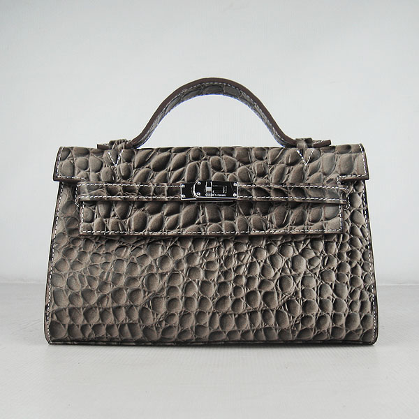 AAA Hermes Kelly 22 CM Python Leather Handbag Grey H008 On Sale