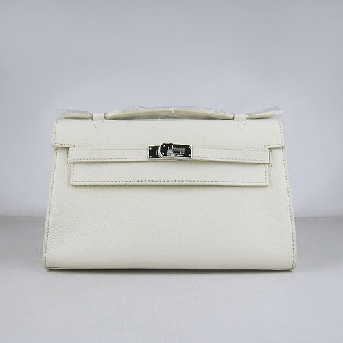 AAA Hermes Kelly 22 CM France Leather Handbag Beige H008 On Sale