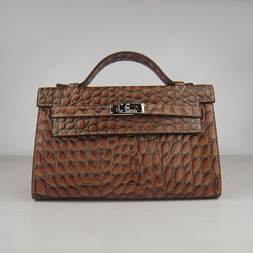 AAA Hermes Kelly 22 CM France Python Leather Handbag Light Coffee H008 On Sale
