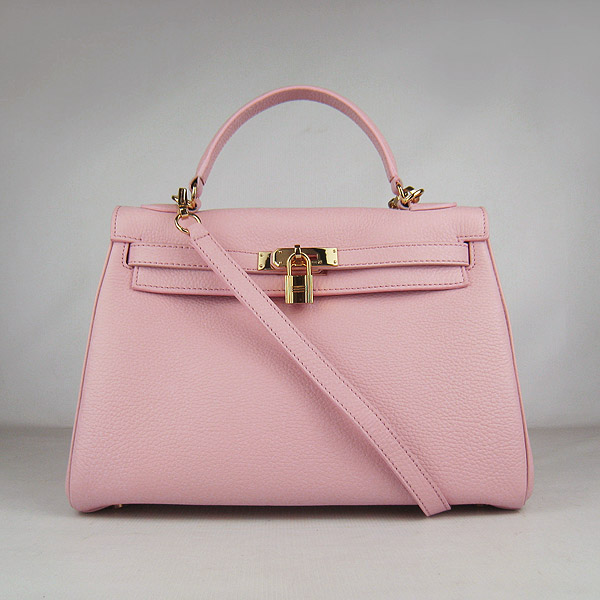 7A Replica Hermes Kelly 32cm Togo Leather Bag Pink 6108