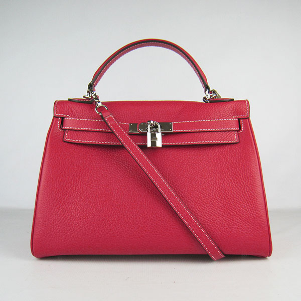 7A Replica Hermes Kelly 32cm Togo Leather Bag Red 6108
