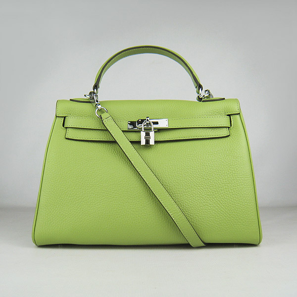 7A Replica Hermes Kelly 32cm Togo Leather Bag Green 6108