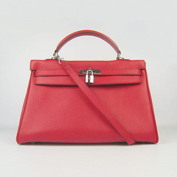 High Quality Hermes Kelly 35cm Togo Leather Bag Red 6308