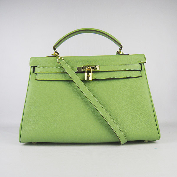 High Quality Hermes Kelly 35CM Togo Leather Bag Green 6308
